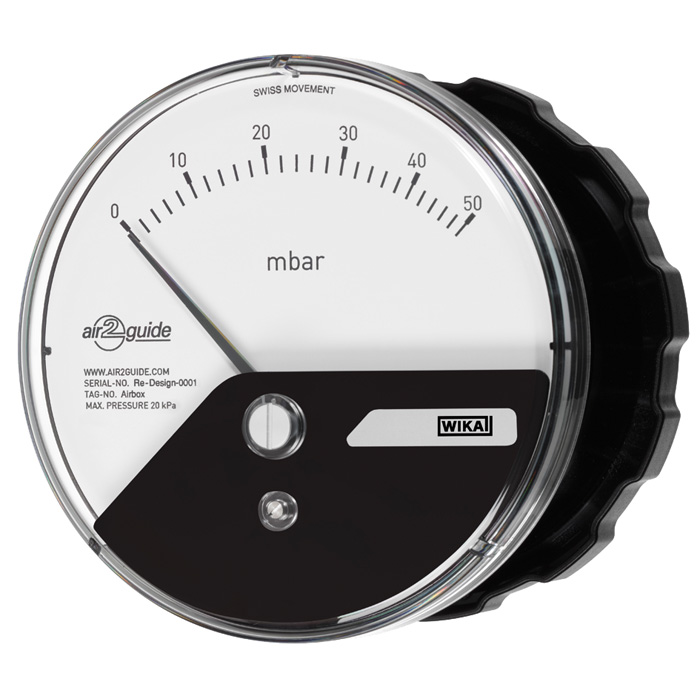 Differential pressure gauge model A2G-10